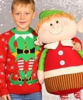 Foute kerstelf print trui voor kinderen